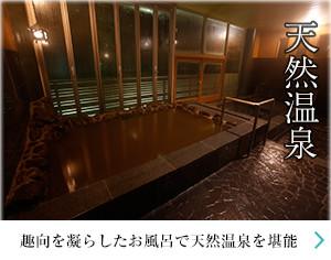 天然温泉 趣向を凝らしたお風呂で天然温泉を堪能